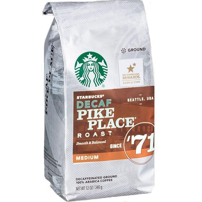 Starbucks Whole Bean Decaf Pike Place 6/1lb thumbnail