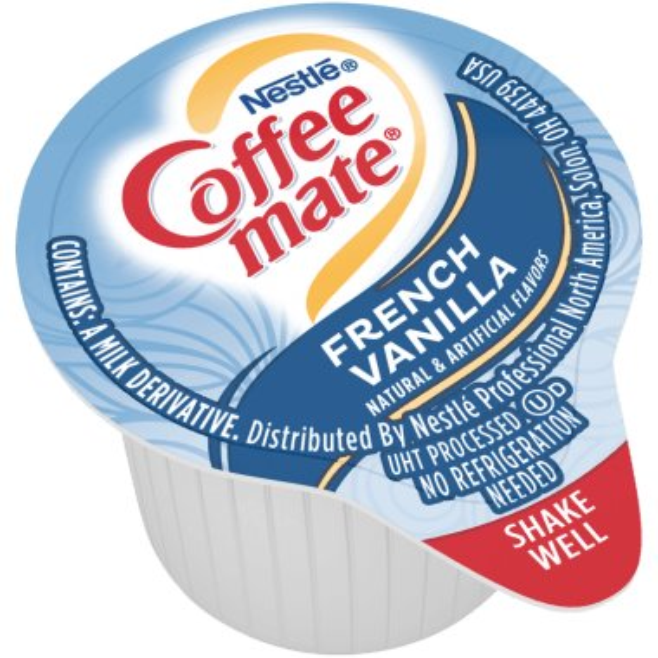 Coffeemate French Vanilla Liquid Cream Cups 180ct thumbnail