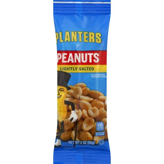 Planters Lightly Salted Peanuts 2oz thumbnail