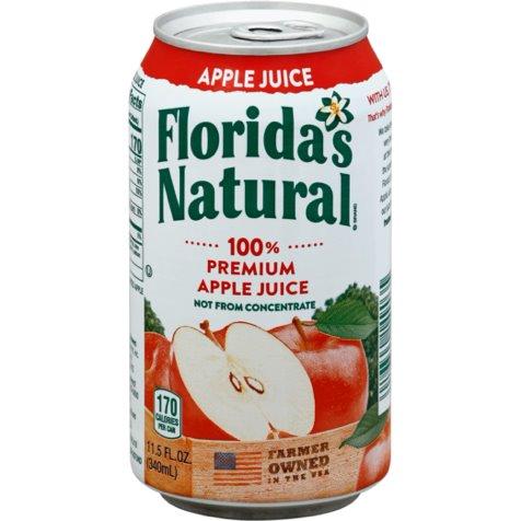 Florida Natural 100% Apple Juice 12oz thumbnail