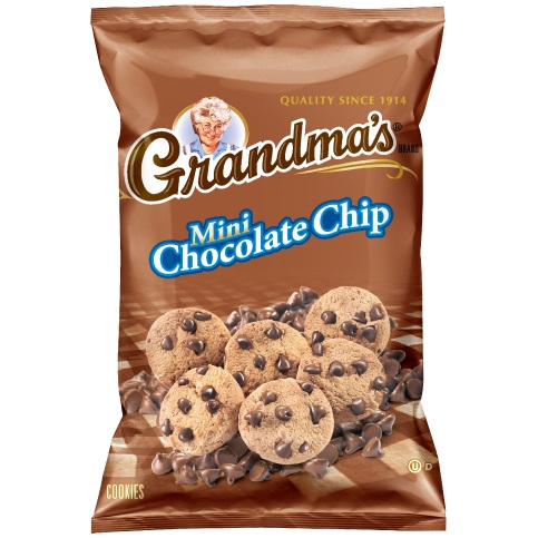 Grandma's Cookies Mini Chocolate Chip 2.5oz thumbnail
