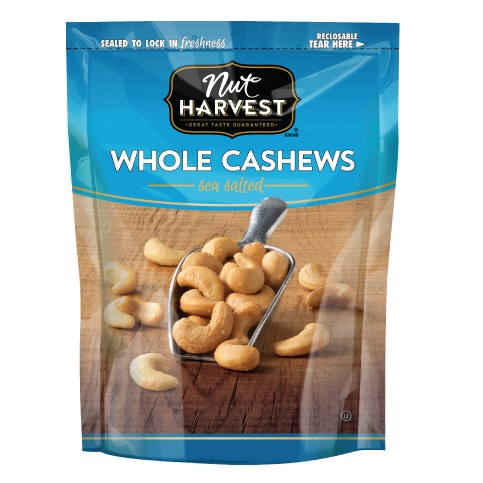 Nut Harvest Whole Cashews Sea Salted 2.5oz thumbnail