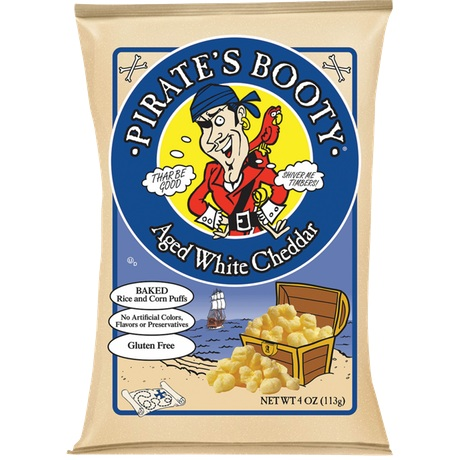 Pirate's Booty Aged White Cheddar Popcorn thumbnail