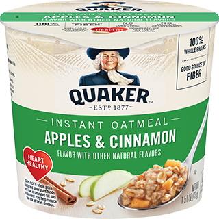 Quaker Oatmeal Express Apple & Cinnamon thumbnail