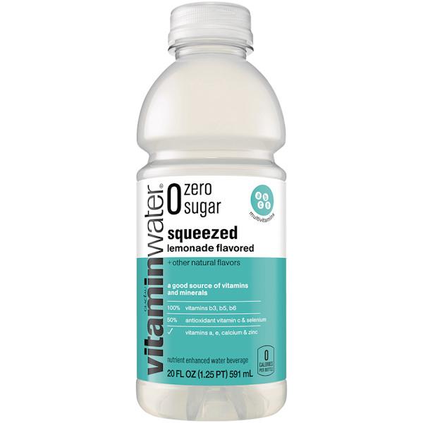 Vitamin Water Squeezed - Lemon (Zero) 20 oz thumbnail