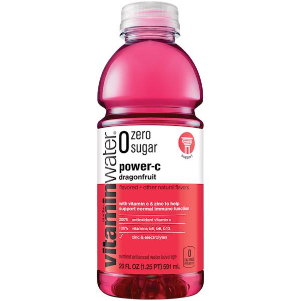 Vitamin Water Power C - Dragon fruit (Zero) 20 oz thumbnail