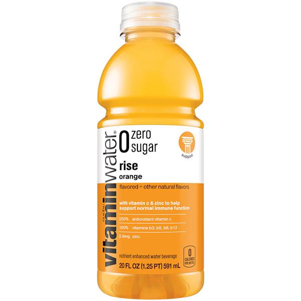 Vitamin Water Rise - Orange (Zero) 20 oz thumbnail