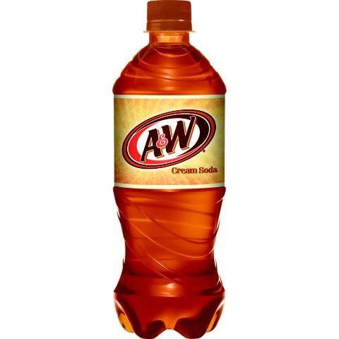 A&W Cream Soda 20oz thumbnail