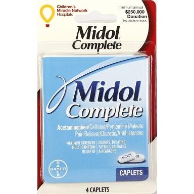 Midol Complete 4 Caplets thumbnail
