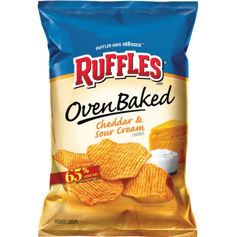 LSS Ruffles Baked Sour Cream and Cheddar thumbnail
