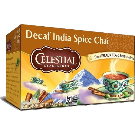Celestial India Spice Chai Decaf 20ct thumbnail