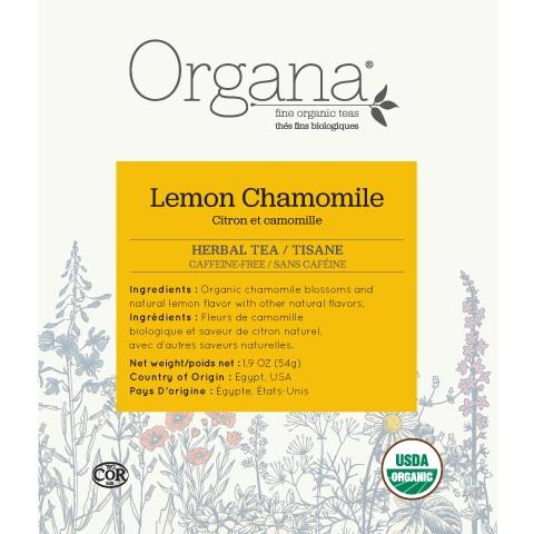 Organa Chamomile Lemon Tea Pods 18ct thumbnail