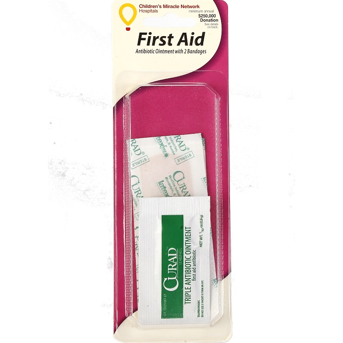 Adhesive Bandages with Antibiotic Ointment thumbnail