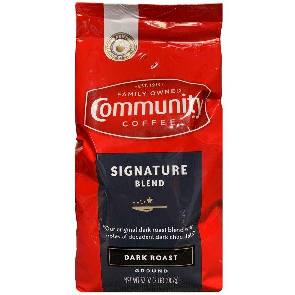 Community Coffee Dark Roast Ground (2pk) thumbnail
