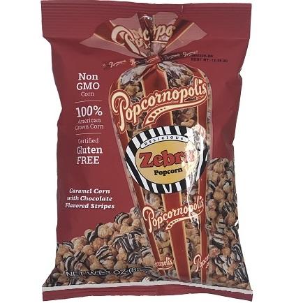 Popcornopolis Zebra Popcorn 3oz thumbnail