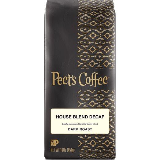 Peet's Coffee Decaf House Blend Whole Bean 1lb thumbnail