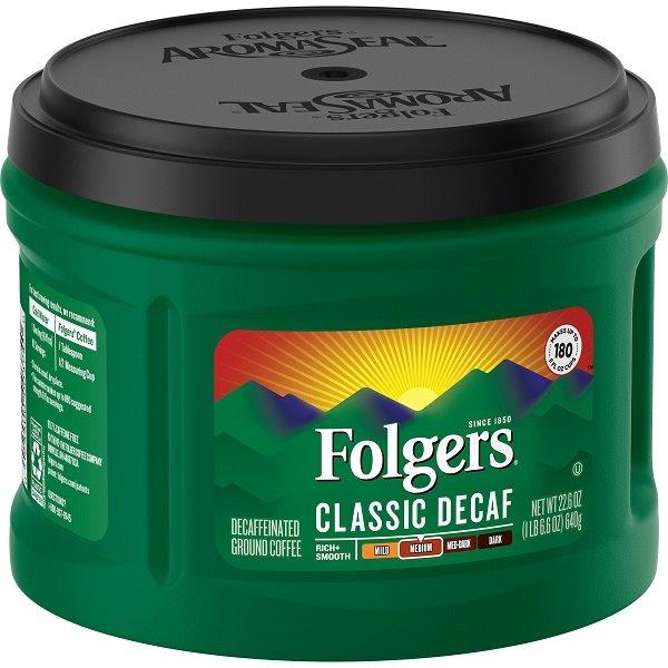 Folgers Classic Decaf 22.6oz thumbnail