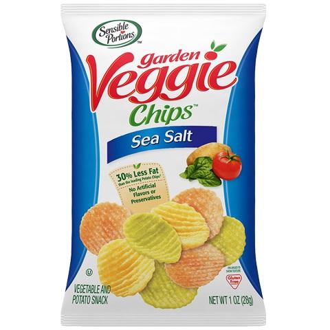Sensible Portions Veggie Chips Sea Salt 1oz thumbnail