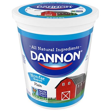 Dannon Yogurt Plain Fat Free 32oz thumbnail