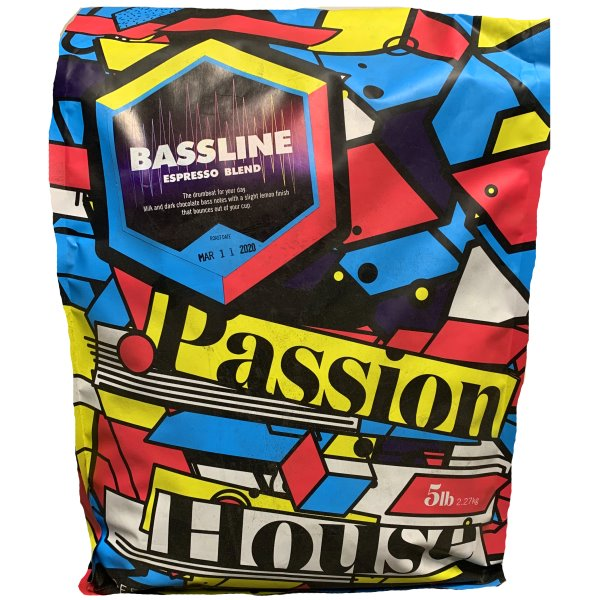 Passion House Bassline Espresso Whole Bean 5lb thumbnail