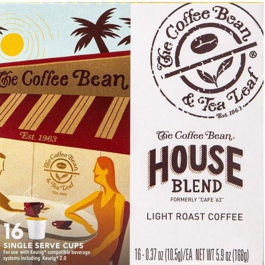 K-Cup Coffee Bean & Tea Leaf Coffee House Blend 16ct thumbnail
