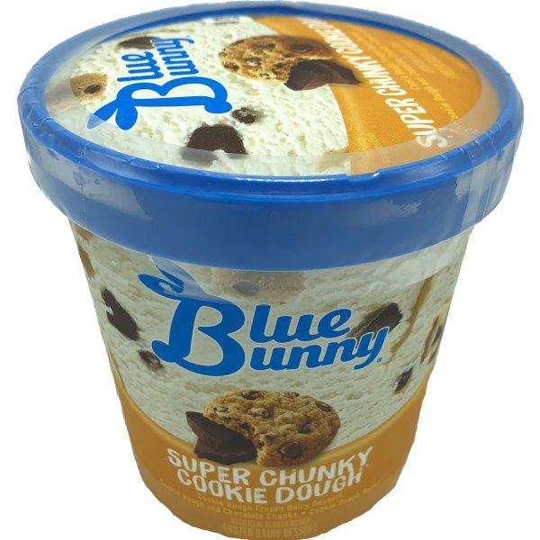 Blue Bunny Super Cookie Dough Ice Cream 14oz thumbnail