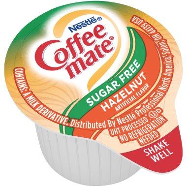 Coffeemate Sugar Free Hazelnut Liquid Cream Cups 50ct thumbnail