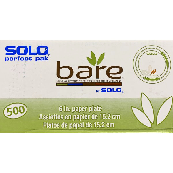 "6"" Bare Solo Paper Plate thumbnail"